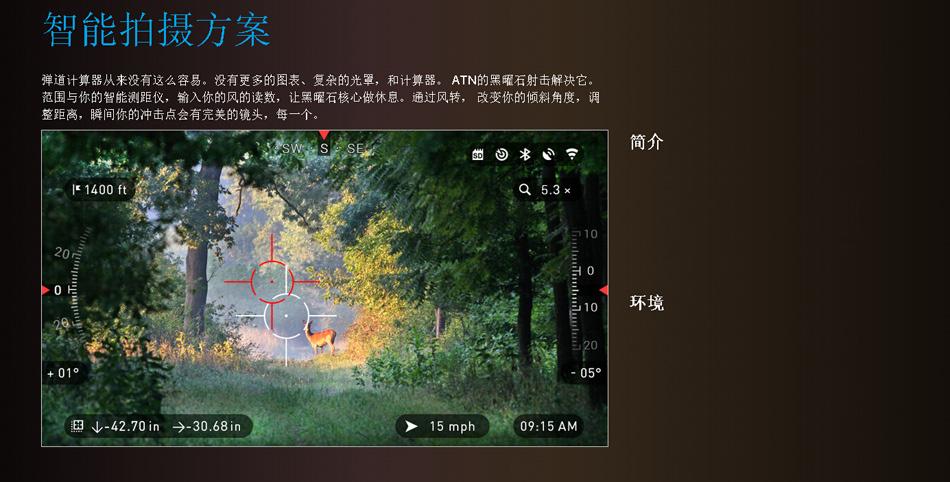 美国ATN X-SIGHT II HD5-20昼夜两用 智能夜视搜索瞄 ATN5-20X85 6