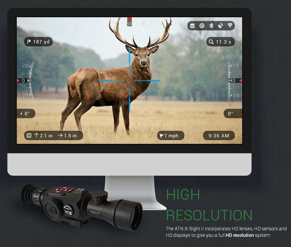 美国ATN X-SIGHT II HD3-14X白夜兼用 智能夜视搜索瞄准器 2